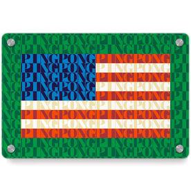 Ping Pong Metal Wall Art Panel - American Flag Mosaic