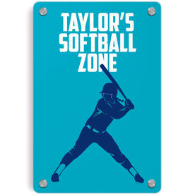 Softball Metal Wall Art Panel - Personalized Softball Zone Batter
