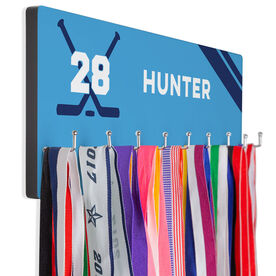 Hockey Hook Board Hockey Name with Stripes