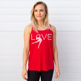 Figure Skating Flowy Racerback Tank Top - LOVE Figure Skater