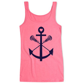 Girls Lacrosse Women's Athletic Tank Top Anchor
