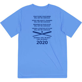 Baseball Short Sleeve Performance Tee - Baseball Will Be Back 2020 ($5 Donated to the American Red Cross)