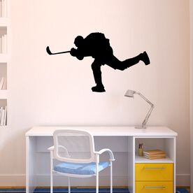 Hockey Player Shooting Removable ChalkTalkGraphix Wall Decal