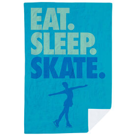 Figure Skating Premium Blanket - Eat. Sleep. Skate. Vertical