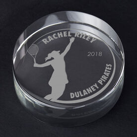 Tennis Personalized Engraved Crystal Gift - Customized Player (Female)