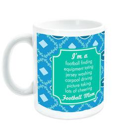 Football Coffee Mug Mom Poem With Pattern