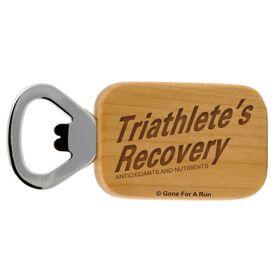 Triathletes Recovery Maple Bottle Opener