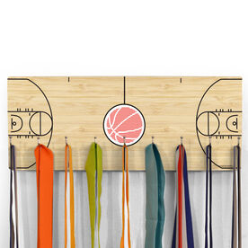 Basketball Hooked on Medals Hanger - Court