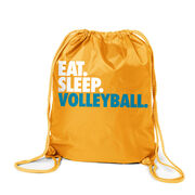 Volleyball Sport Pack Cinch Sack Eat. Sleep. Volleyball.