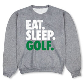 Golf Crew Neck Sweatshirt - Eat Sleep Golf