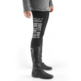 Hockey High Print Leggings Pretty and Nice Just Not On The Ice