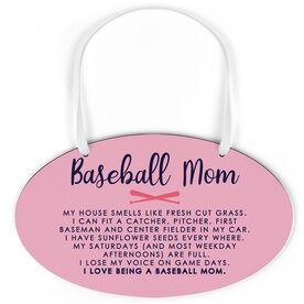 Baseball Oval Sign - Baseball Mom Poem