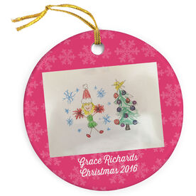 Cheerleading Porcelain Ornament Personalized Your Artwork