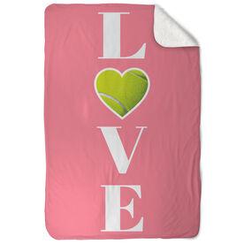 Tennis Sherpa Fleece Blanket -  LOVE with Ball
