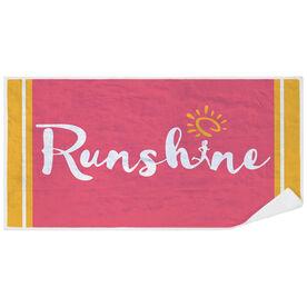 Running Premium Beach Towel - RunShine