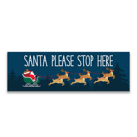 "12.5"" X 4"" Removable Wall Tile - Santa Please Stop Here"