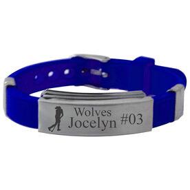 Personalized Field Hockey Player Silicone Bracelet