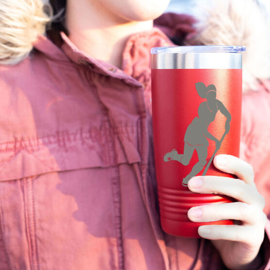 Field Hockey 20 oz. Double Insulated Tumbler - Silhouette