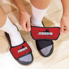 Hockey Repwell® Slide Sandals - Personalized Hockey Shooter