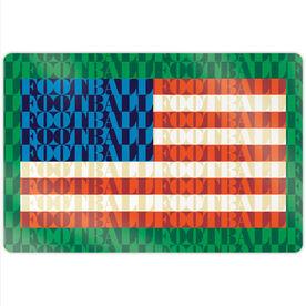 "Football 18"" X 12"" Aluminum Room Sign - American Flag Mosaic"