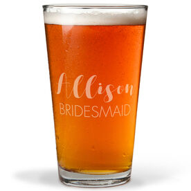 Personalized 16 oz. Beer Pint Glass - The Stylish Bridesmaid