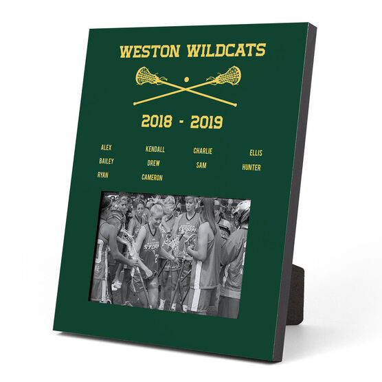 Girls Lacrosse Photo Frame - Team Roster