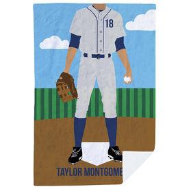 Baseball Premium Blanket - Baseball Player