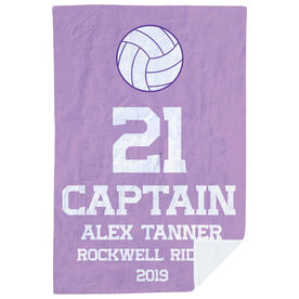 Volleyball Premium Blanket - Personalized Captain