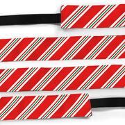 Athletic Juliband No-Slip Headband - Peppermint Stripes