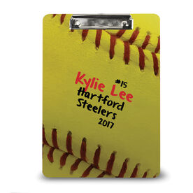 Softball Custom Clipboard Softball Stitches Sweetspot