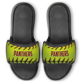 Softball Repwell™ Slide Sandals - Personalized Softball Stitches