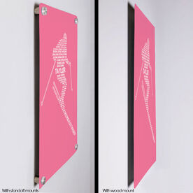 """Skiing 18"""" X 12"""" Aluminum Room Sign - Personalized Skiing Words"""