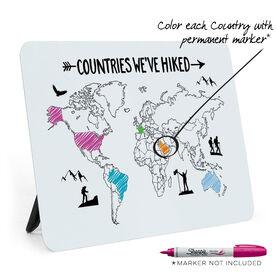 Desk Art - Countries We've Hiked Outline