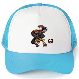 Seams Wild Football Trucker Hat - Woodwind