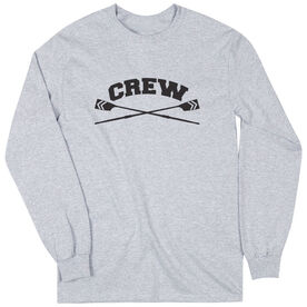 Crew Tshirt Long Sleeve Crew Crossed Oars Banner