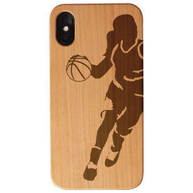 Basketball Engraved Wood IPhone® Case - Girl Player