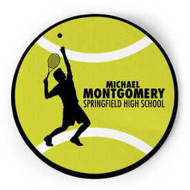 Tennis Circle Plaque - Male Silhouette With Text
