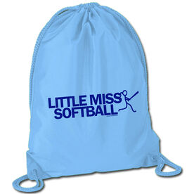 Softball Sport Pack Cinch Sack Little Miss Softball