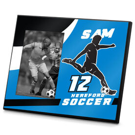 Soccer Photo Frame Personalized Male Soccer Player