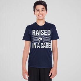 Baseball Short Sleeve Performance Tee - Raised in a Cage Baseball