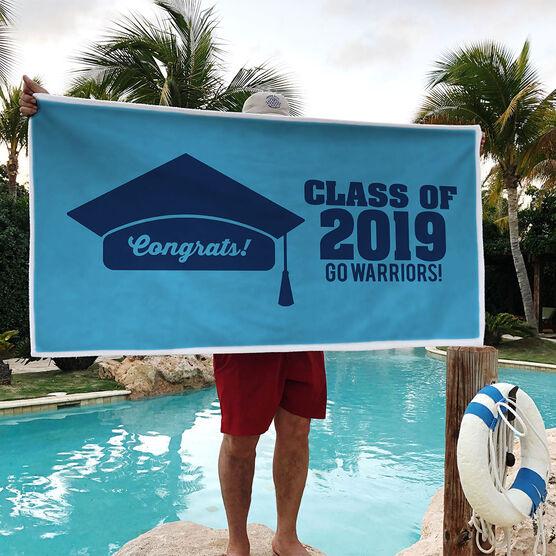 Personalized Premium Beach Towel - My Graduation