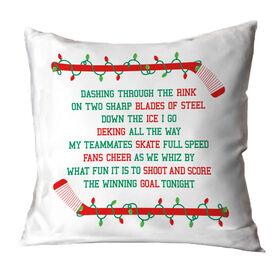 Hockey Throw Pillow Hockey Players Jingle All The Way