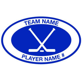 Personalized Hockey Vinyl Decal