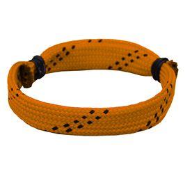 Hockey Lace Bracelet Orange Adjustable Wrister Bracelet