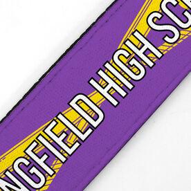 Softball Juliband No-Slip Headband - Personalized Crossed Bats Stripe Pattern