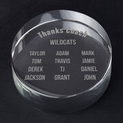 Personalized Engraved Crystal Gift - Roster