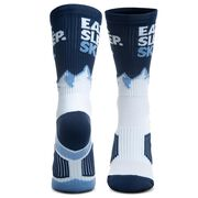 Skiing Woven Mid-Calf Socks - Eat. Sleep. Ski