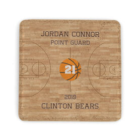 Basketball Stone Coaster - Personalized Team