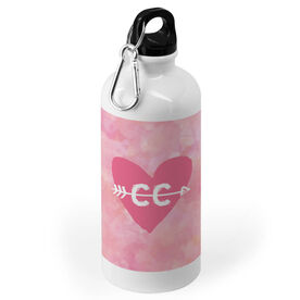 Cross Country 20 oz. Stainless Steel Water Bottle - Watercolor Heart Arrow