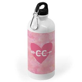 Cross Country 20 oz. Stainless Steel Water Bottle - Watercolor Heart Arrow